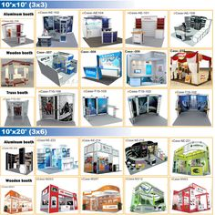 Exhibition stall 3d model 6 mtr x 3 mtr 2 side open for Room design 3x3
