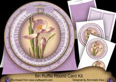 Crocus Happy Easter 8inch Round Ruffle Mini Card Kit on Craftsuprint - Add To Basket!