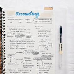 [september our class has been studying terms and definitions related to accounting. really excited to start doing the journal entries, balance sheet and etc! i can't wait 💙 insta: studie_ss. Accounting Notes, Accounting Student, Business Notes, Business Studies, Class Notes, School Notes, Pretty Notes, Good Notes, School Motivation