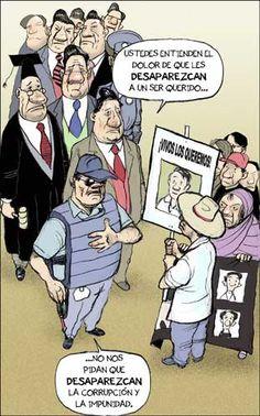 Pais de desaparecidos. La Jornada: Cartones