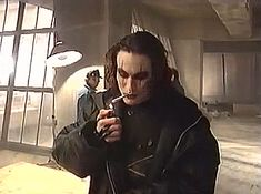Brandon Lee on set of The Crow (1994)