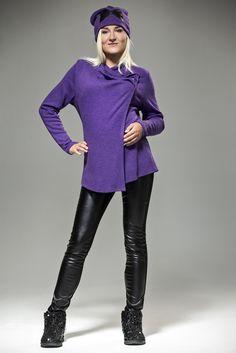 Stylish Violet Maternity Sweater