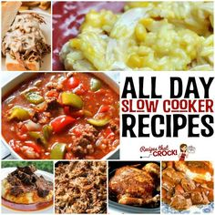 Do you wish you had more all day slow cooker recipes? Here are 20 long cooking crock pot recipes from the best cooks we know and our site!