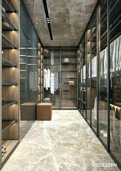 Luxury Closet Ideas Walk In Closet Design Dressing Room Walk In Closet Design, Bedroom Closet Design, Closet Designs, Master Bedroom Design, Best Closet Systems, Closet Walk-in, Closet Ideas, Closet Mirror, Black Closet