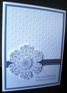 Handmade card using the Mixed Bunch stamp set by Stampin' Up!