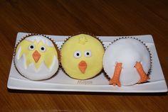 Cupcakes decorados de Pascua, fondant