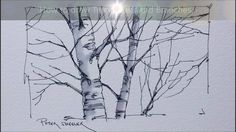 Tips and Techniques for drawing Better Tree trunks and Branches. Quick a...