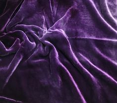 "Amethyst Purple - Hand Dyed Silk Velvet (18""x22"")"