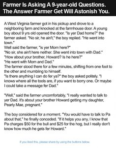 Farmer Is Asking A 9-year-old Questions. The Answer Farmer Get Will Astonish You.