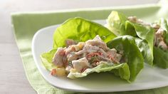 Pineapple Chicken Salad Lettuce Wraps  https://www.yoplait.com/recipes/pineapple-chicken-salad-lettuce-wraps/67c07832-6e90-4399-b4d3-02f807ade3e7