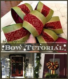 how to make a bow step by step for christmas decorating wreaths, christmas decorations, crafts, seasonal holiday decor, wreaths, Step five wrap your loops with string or floral wire You want to fasten the center tightly Don t forget to leave enough string to fasten the bow to the wreath gift mantel bannister wherever you re putting it