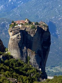 Meteora, Greece  How in the world do you get up there??