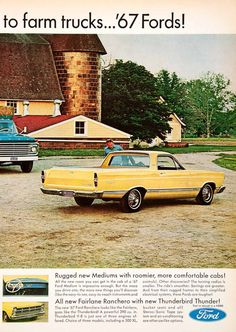 1967 Ad Ford Pickup Truck Fairlane Rancero Thunderbird Thunder Advertisement SF4 - Period Paper  - 2