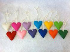 Felt Rainbow Heart