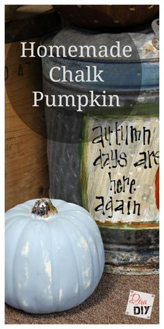 Easy Chalk Paint Pumpkin - Leanne Lee - The Diva of DIY