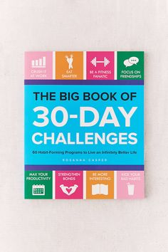 Shop The Big Book of 30-Day Challenges By Rosanna Casper at Urban Outfitters today. We carry all the latest styles, colors and brands for you to choose from right here.