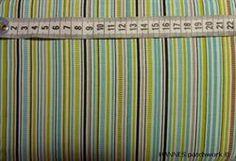 Turkis grøn stribet Patchworkstof  - er et meget flot lyst patchworkstof med turkise grønne lige striber