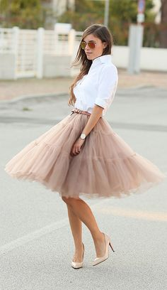 January 27, 2016 // Love tutu skirt, very feminine and is great for everyday wear while looking fabulous.
