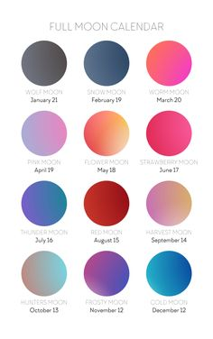 ** 2019 MOON JOURNAL IS A PRINTABLE PDF FILE** Use the energy and guidance from the moon to shape your The moon cycle is a reflection of the cycles that occur in our own lives. Colour Pallette, Color Combos, Color Schemes, Colour Match, Thunder Moon, Cold Moon, Strawberry Moons, Moon Calendar, Pink Moon