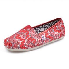 Cheap Red Toms Glitter Women Shoes $ 26.66