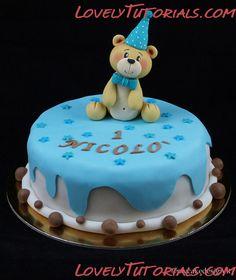 МК детский торт с мишкой -Bear cake tutorial - Мастер-классы по украшению тортов Cake Decorating Tutorials (How To's) Tortas Paso a Paso