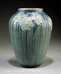Newcomb College Art Pottery Matte Glaze Vase, 1917, decorated by Anna Frances Simpson