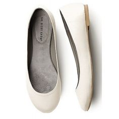 Ivory Satin Argenta Ballet Flats ($35) ❤ liked on Polyvore featuring shoes, flats, ballerina shoes, ballerina pumps, ivory evening shoes, ballet flat shoes and satin flats