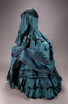✿ڿڰۣ(̆̃̃❤Aussiegirl #Vintage #Wear   Day dress, 1872-74.