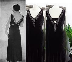 Vintage Flapper Dress, Beaded Flapper Dress, Black Prom Dresses, Ball Dresses, Ball Gowns, Peaky Blinders Dress, Old Hollywood Dress, 1920s Fashion Dresses, Steampunk Dress