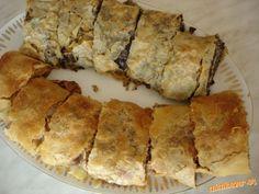 Ťahaná štrúdla jabĺkovo maková a jabĺkovo orechová | Mimibazar.sk Pie, Desserts, Food, Torte, Tailgate Desserts, Cake, Deserts, Fruit Cakes, Essen
