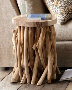 Twisted Root Side Table-could make with tree branches in back yard ...