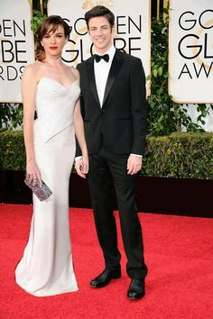 Granielle at Golden Globes - they're almost holding hands! #Granielle #GrantGustin #DaniellePanabaker