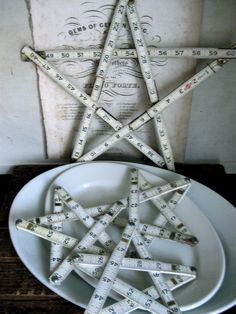 Cool wooden tape measure stars!