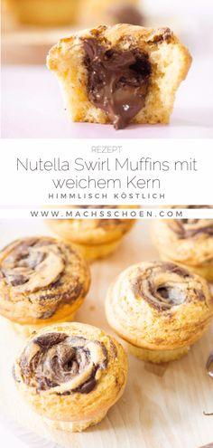 Nutella Muffins, Nutella Cupcakes, Yummy Cupcakes, Cupcake Recipes, Baking Recipes, Mary Recipe, Pudding Cake, I Love Food, Chocolate Recipes