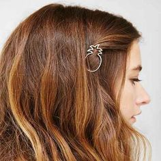 New fashion hairwear gold plated fruit pineapple hairpin hair combs hair sticks barrettes gift for women girl H395