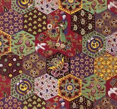 Turkey Red - Scottish 1886.  One of the newest fabrics in my cheater fabric collection.  So fab.
