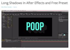 Long Shadows In After Effects and Free Preset