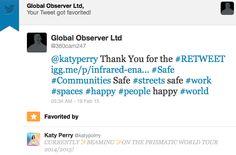 #KatyPerry Endorsement for #SaferCitiesSolution Prismatic World Tour, Happy, Ser Feliz, Being Happy