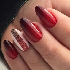 Ever Beautiful Red Hot Wedding Nail Art Designs Red Nail Designs 11 Of The Exceptional Red H. Nail Art Designs, Winter Nail Designs, Nails Design, Red Ombre Nails, Burgundy Nails, Burgundy Makeup, Burgundy Nail Designs, Nail Color Trends, Nail Colors