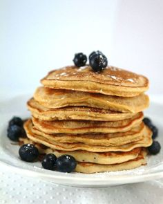 Whole Wheat Mixed Berry Pancakes | POPSUGAR Fitness 1 1/4 cups whole ...