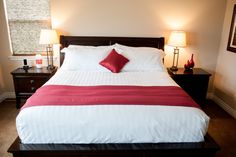 Bedding rental packages with a touch of color.