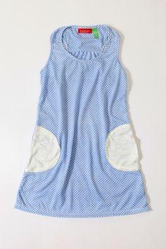 Bakker made with love - Zomerkleedje met blauwe print (3 t/m 8 jaar) | Rokken en jurken | Calomel