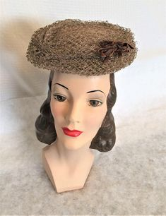 Vintage 1960/'s  Miss Sally Victor Cone Shaped Hat