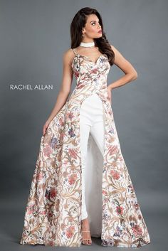 16907ae5228 Buy Rachel Allan 8319 Floral Print Jumpsuit today at MadameBridal.com  authorized retailer store.