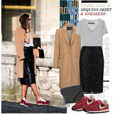 Fall Outfit Ideas with Sequined Skirts - Outfit Ideas HQ