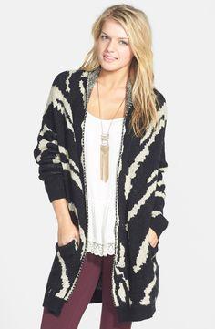 Cozy knit cardigan.