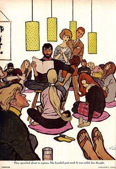 https://flic.kr/p/dLWgRE | Varady21 | Cosmopolitan magazine Illustrated by Frederic Varady January 1960