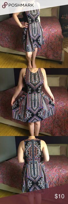 Modern Tribal Print Dress Super comfortable! Working front zipper! The pictures don't do it justice! Mossimo Supply Co. Dresses