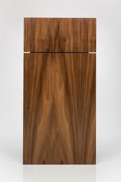 Walnut Kokeena doors for Ikea cabinets.