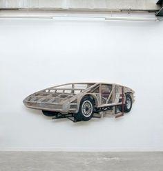 "Ron Van Der Ende Body Buck, 2015 Escultura en madera 127 x 45.6 x 6"""